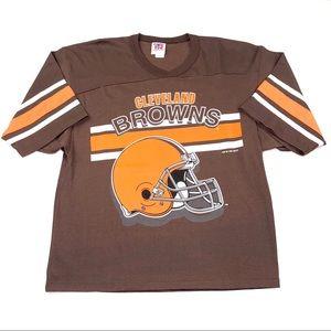 Vintage Cleveland Browns T Shirt M Color Block